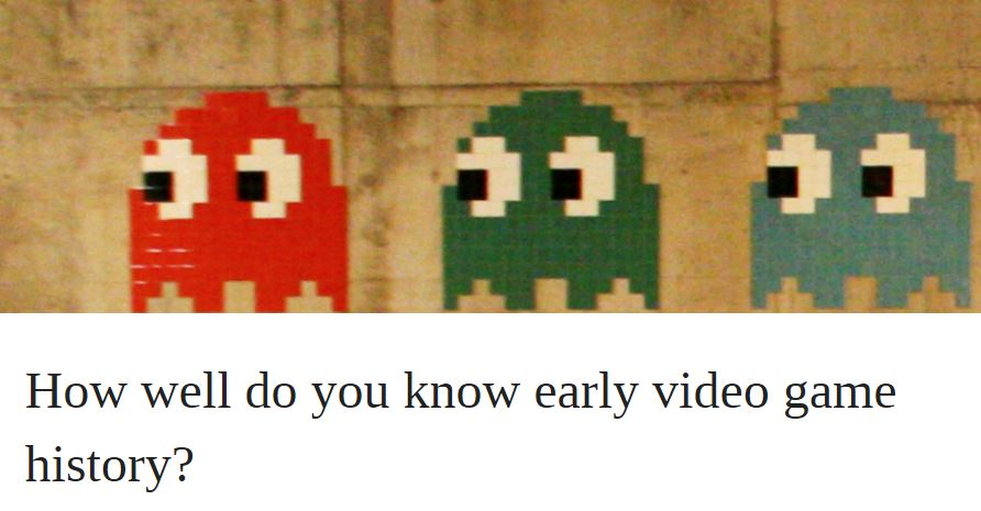 How well do you know early video game history? | OUPblog